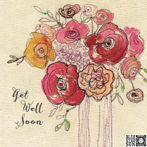 Vase,Of,Flowers,Get,Well,Soon,Card,buy pretty get well soon card for her online, buy feel better soon cards with vase of flowers online, buy floral get well cards for her online, buy pretty pink floral get well cards for her online, buy shabby chic get well cards for her with flowers onlin