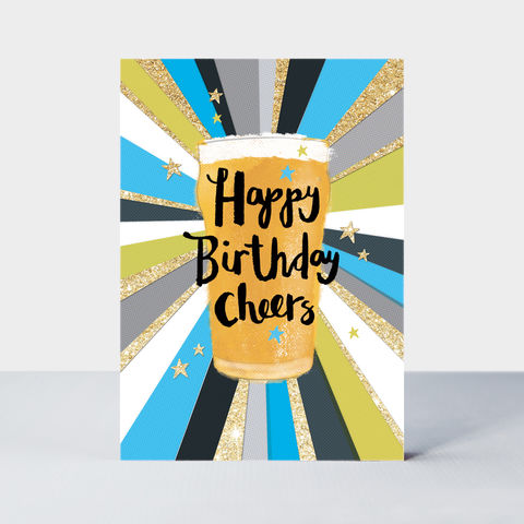 Pint,Of,Beer,Cheers,Happy,Birthday,Card,buy pint of beer birthday cards for him online, buy cheers birthday cards for him online, buy Birthday boy birthday cards for men online, buy male birthday card online, buy birthday cards for men online