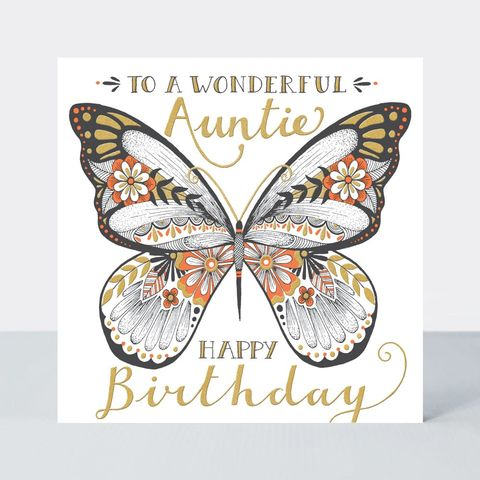 Wonderful,Auntie,Butterfly,Birthday,Card,buy special auntie birthday cards online, buy birthday cards for aunt aunts aunties family online, buy birthday cards for auntie online, buy butterfly birthday card for auntie online, buy birthday cards for aunt from niece nephew nieces nephews  with butt