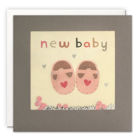Grey,Shakies,Pink,Shoes,New,Baby,Card,buy shakies new baby cards online, buy pink booties nee baby girl cards online, buy new baby girl cards online, buy gender neutral new baby cards for parents cards online, buy pretty pink baby cards online, buy flamingo and present birthday cards o