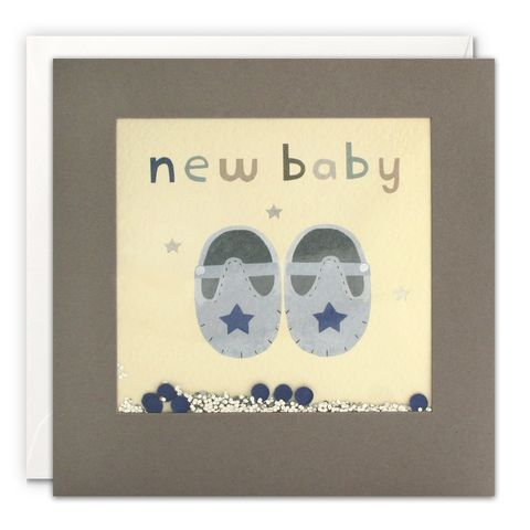 Grey,Shakies,Blue,Shoes,New,Baby,Card,buy shakies new baby cards online, buy blue booties new baby boy cards online, buy new baby boy cards online, buy gender neutral new baby cards for parents cards online, buy pretty pink baby cards online, buy flamingo and present birthday cards o