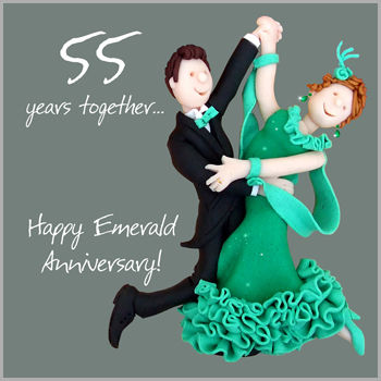 55th,Wedding,Anniversary,Card,buy emerald anniversary card online, buy 55th wedding anniversary card, card for 55th anniversary, cards for wedding anniversaries, emerald wedding anniversary card, card for emerald anniversary