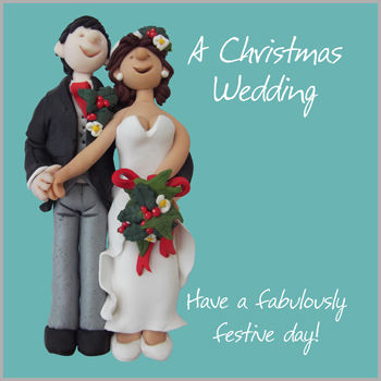 Christmas Wedding Card - product images
