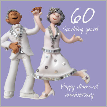 60th,Wedding,Anniversary,Card,buy 60th wedding anniversary card online, buy sixtieth wedding anniversary card online, but sparking diamond wedding anniversary card online for special couple mum and dad parents grandparents family relations,