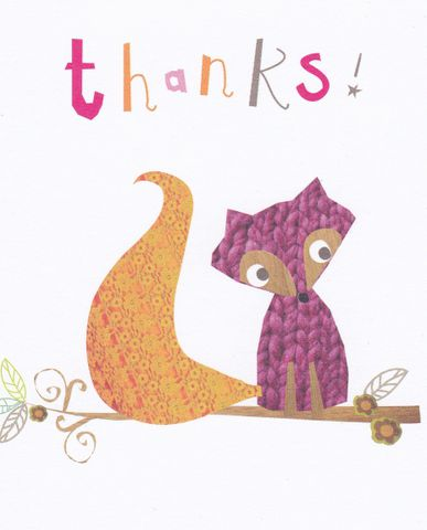 Pack,of,5,Thanks,Fox,Cards,buy thank you cards online, buy fox thank you cards online thank you cards, stationery, social stationery, little cards, mini cards, notecards, notelets, fox cards, animal cards, fox stationery, note cards, note-cards, thank you cards, cards for thank you