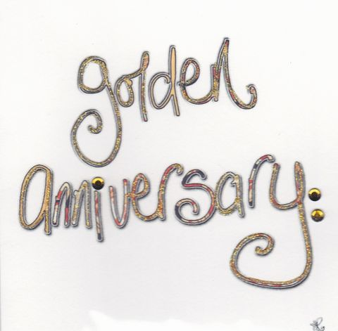 Hand,Finished,Golden,Anniversary,Card,buy golden anniversary card online, gold wedding anniversary card, 50th wedding anniversary card, cards for wedding anniversaries, card for 50th anniversary, card for golden wedding