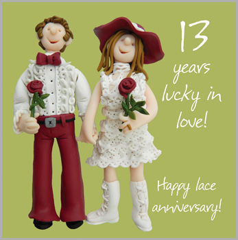 13th,Wedding,Anniversary,Card,buy 13th wedding anniversary card online, wedding anniversary card, cards for anniversaries, 13th, lace