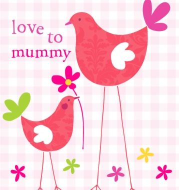 Mummy,Pink,Birds,Card,buy mummy birthday card online, buy mummy card online, cards for mummies, card for mummy, mummy brithday card, mum card, mother's day card, mummy mother's day card, card for mother's day, mothers day card for mummy, mothers day, mothering sunday card