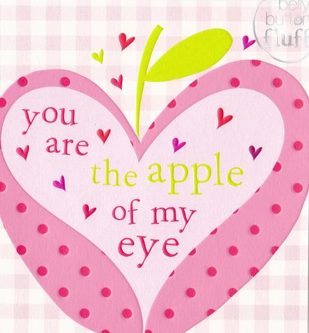 you are the apple of my eye valentines day card