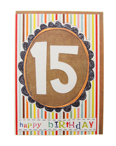 Hand,Finished,15th,Birthday,Card,buy 15th birthday card online, buy age 15 birthday card online, buy boys 15th birthday cards online, card for 15th, fifteenth birthday card, fifteen birthday card, boys 15th birthday card