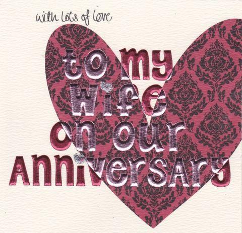 Hand,Finished,Wife,Anniversary,Card,buy wife anniversary card online, buy anniversary cards for wives online, buy wedding anniversary cards online for wife, anniversary card, card for anniversary, cards for wedding anniversaries, heart anniversary card, wife anniversary card, wedding annive