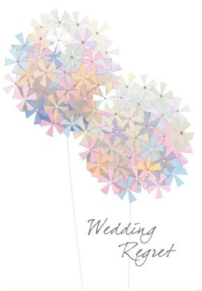 Floral,Wedding,Regret,Card,buy wedding regret card online, buy with regret cards online, with regret card, card for regrets, regret card for wedding, regret card