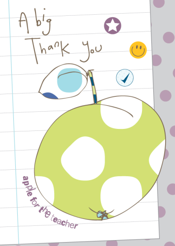 Hand Finished Teacher Thank you Card - product images