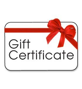 Gift Certificates $10-$100 - product image