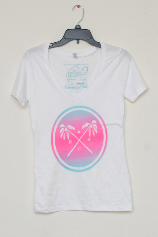 BBC Palm Trees & Summer Breeze Ladies Shirt (White) - product images  of