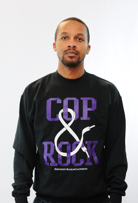 Cop & Rock Shirt Purple/Black Crewneck - product images