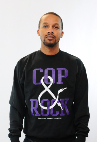 Cop,&,Rock,Shirt,Purple/Black,Crewneck,san diego, cali, california, 314259 131, 136027-108, AIR JORDAN V GRAPE, CHUCKPOSITES, KOBE CLOAKS, NIKE, HYPEBEAST, CROOKS, BOBBY FRESH, KICKS, White / Emerald Green – Grape Ice, BROKEN BANK