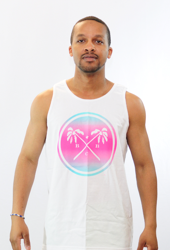 BBC Palm Tree & Summer Breeze Tank Top (White) - product images  of