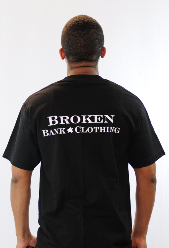 Broken Bank Pig logo shirt outline (Black) - product images  of