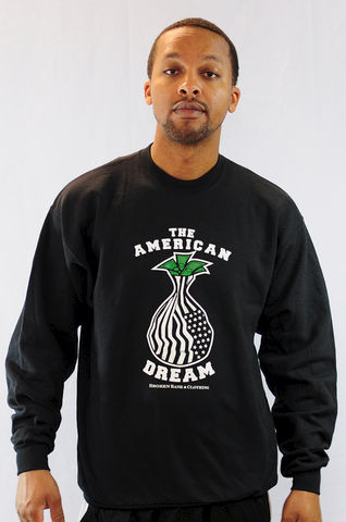 The,American,Dream,Crewneck,black market, recession flag, american, the american dream, money bag, money