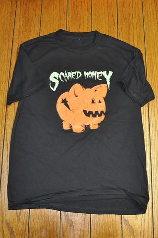 Scared,Money,Halloween,T,scared money, halloween, trick or treat, glow in the dark ink, broken bank clothing, brokenbank, broken bank, halloween shirt, novelty print