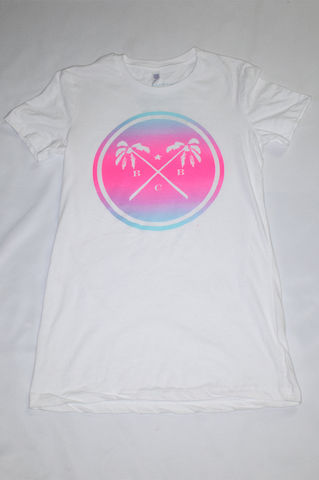 BBC,Palm,Trees,&,Summer,Breeze,Ladies,Shirt,(White),miami vice, lebron south beach, tiffany co., broken bank clothing, floral, summer