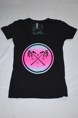 BBC,Palm,Trees,&,Summer,Breeze,Ladies,Shirt,(Black),miami vice, lebron south beach, tiffany co., broken bank clothing, floral, summer