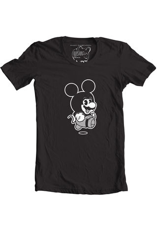 Mario,Retro,Mickey,Mouse,Suit,mario mickey mouse, mickey mouse, mario, broken bank clothing, mario suit, steamboat WILLIE, DISNEY CHARACTER, NINTENDO, DISNEYLAND, DISNEYWORLD
