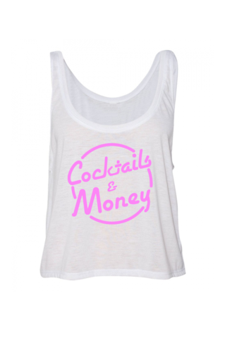COCKTAILS,&,MONEY,CROP,cocktails and dreams, crop top, cocktails & dreams, money, prettybank, womens streetwear, fashion, womens fashion, BROKEN BANK CLOTHING, broken bank