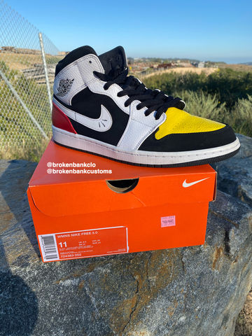 Custom,Mickey,Mouse,Jordan,1,Mickey Mouse, Disney, custom Jordan, Jordan 1 tuxedo, Disney shoe, stockx,