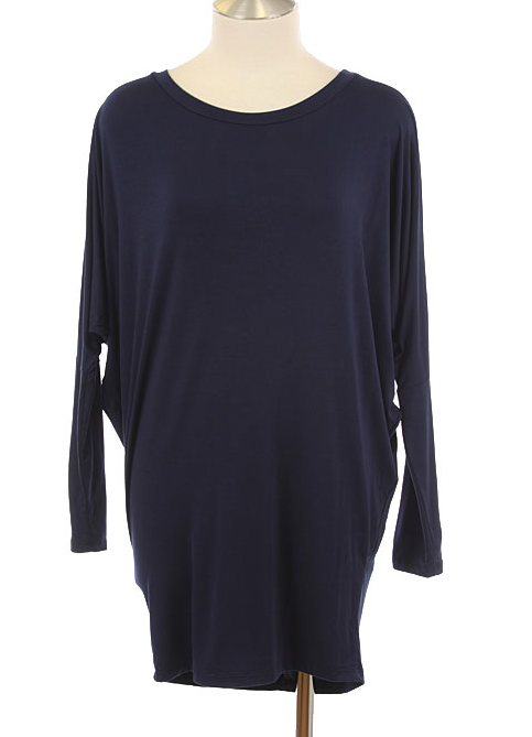 Dolman Tunic - Navy - product images