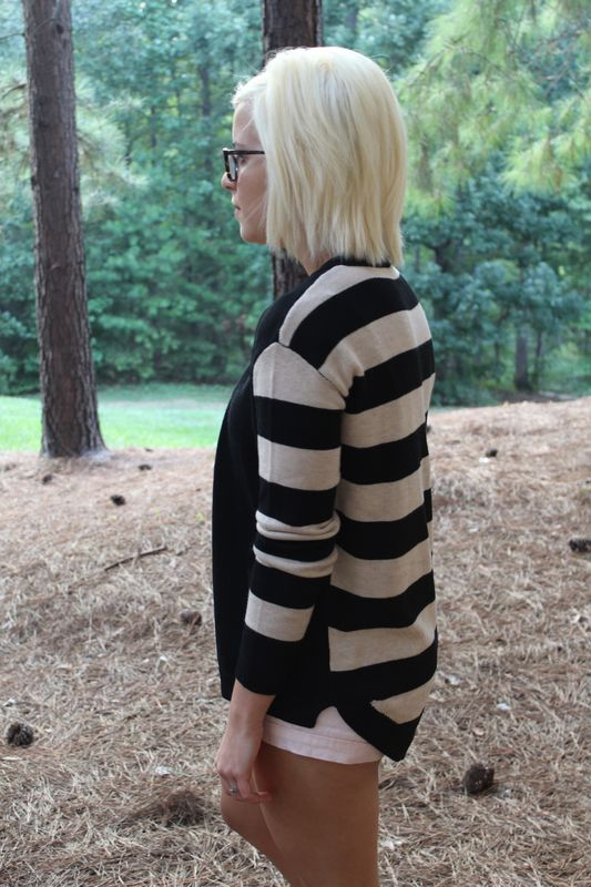 Stripe Sleeve Cardigan - product images  of