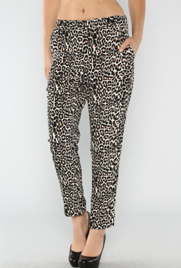 Loose Fit Leopard Pants - product images  of