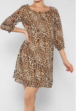 Leopard Shift Dress - product images  of
