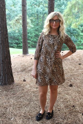 Leopard,Shift,Dress