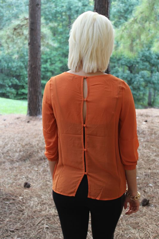 Pumpkin Pintuck Top - product images  of