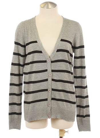 Stripe,Boyfriend,Cardigan