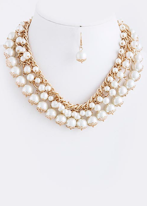 Southern Girls Wear Pearls Necklace - Gold - product images