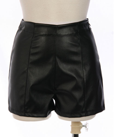 Leather,Shorts