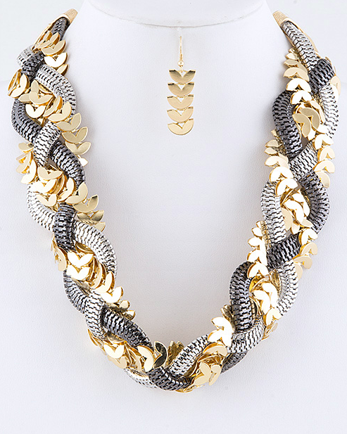 Leafy Chain Necklace - product images  of