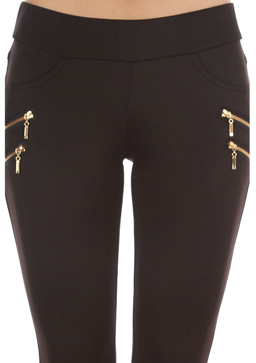 Zipper Trim Skinny Pants - product images  of
