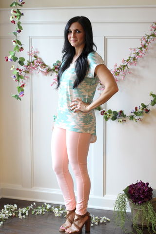 Skinny,Jeggings,-,Peach, Spring pants