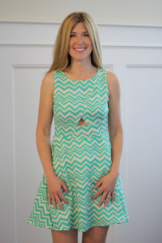 Linen,Chevron,Dress