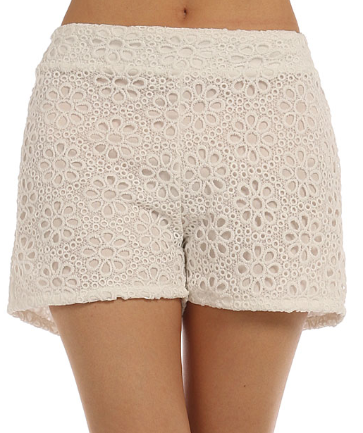 Floral Eyelet Shorts - product images  of