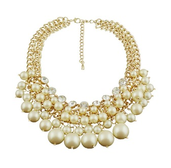Double Cluster Pearl Necklace - product images