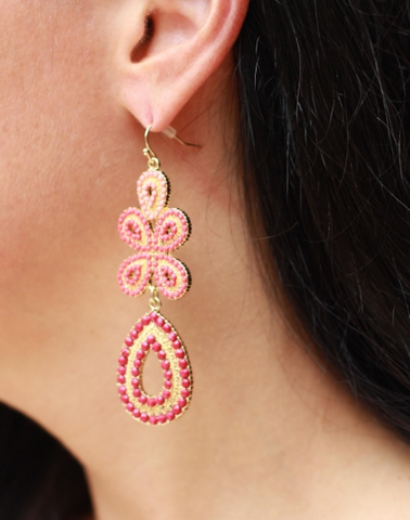 Pink,Ombre,Earrings