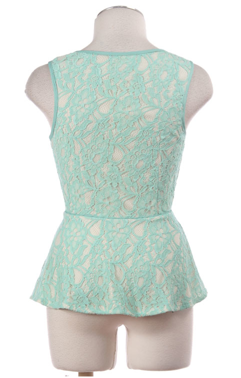 Lace Peplum Top - product images  of