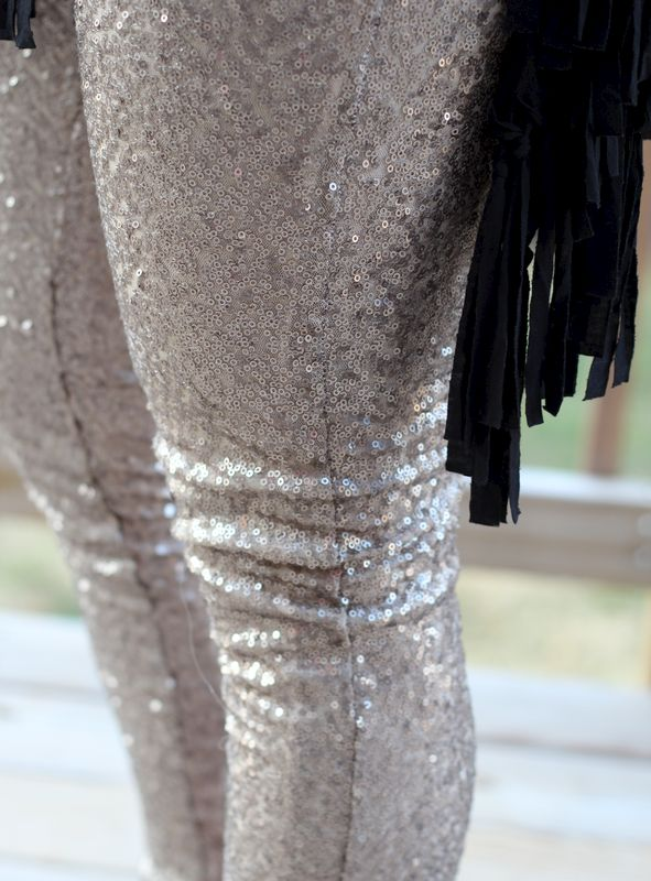 Gold Sequin Leggings - product images  of