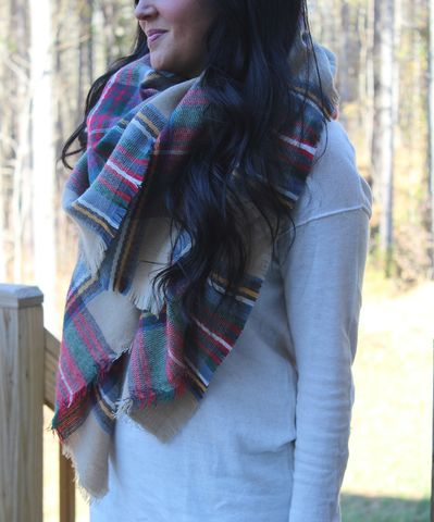 Plaid,Blanket,Scarf,Zara Blanket Scarf Cheap