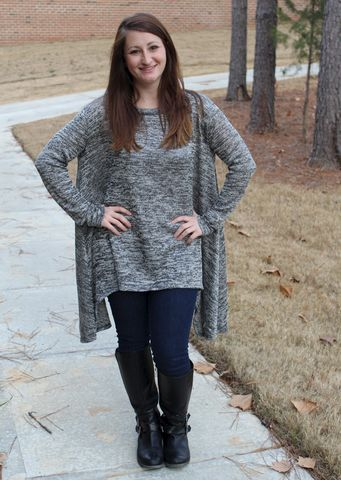 Heathered,Sweater,Tunic